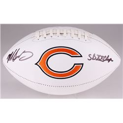 "Mike Singletary Signed Bears Logo Football Inscribed ""SB XX Champs"" (JSA COA)"
