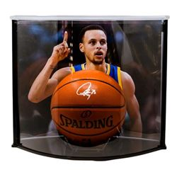 Stephen Curry Signed NBA Game Ball Series Basketball with Curve Display Case (Fanatics Hologram)