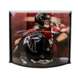 Matt Ryan Signed Falcons Full-Size Authentic Pro-Line Helmet with Curve Display Case (Fanatics)