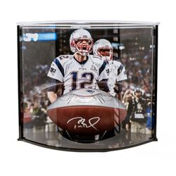 """Tom Brady Signed LE Super Bowl 51 """"The Duke"""" NFL Official Game Ball with Curve Display Case (Steiner"""