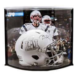 """Tom Brady Signed LE """"Super Bowl 51"""" Custom Matte White ICE Authentic Proline Speed Helmet with Curve"""