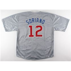 Alfonso Soriano Signed Cubs Jersey (JSA COA)