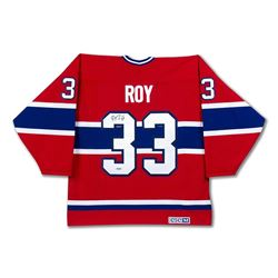 Patrick Roy Signed Canadiens Jersey with Stanley Cup Centennial Patch (UDA COA)