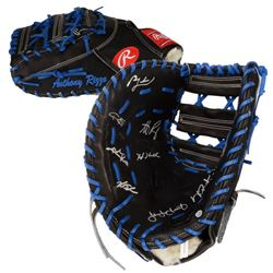 """2016 Cubs World Series Champions """"Anthony Rizzo"""" Baseball Glove Team-Signed by (9) with Kris Bryant,"""