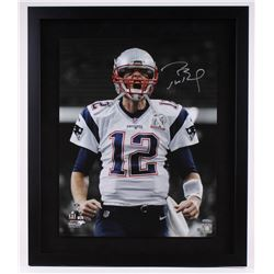 "Tom Brady Signed Patriots Limited Edition ""Super Bowl 51 Scream"" 22"" x 26"" Custom Framed Photo #1/51"