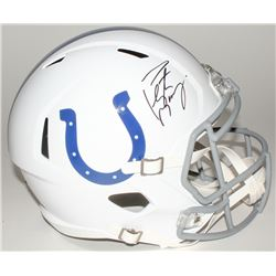 Peyton Manning Signed Colts Full-Size Speed Helmet (Fanatics Hologram)