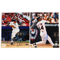 Lot of (2) 8x10 Photos Signed by Jay Payton  Benny Agbayani (FSC COA)