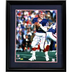 Jim Kelly Signed Bills 23x27 Custom Framed Photo Display (Radtke COA)