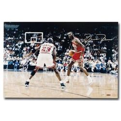 "Michael Jordan Signed LE Bulls ""Driven"" 16x24 Photo (UDA COA)"