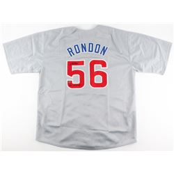 """Hector Rondon Signed Cubs Jersey Inscribed """"2016 WS Champs"""" (Schwartz COA)"""