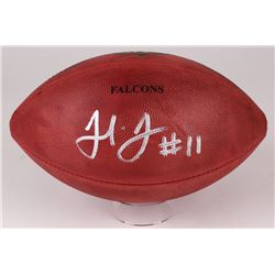 """Julio Jones Signed """"The Duke"""" Official NFL Game Ball with Falcons Stamp (Radtke COA)"""