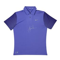 Tiger Woods Signed LE Nike Purple Haze Polo Shirt (UDA COA)