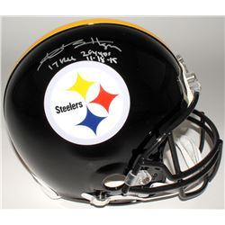 """Antonio Brown Signed LE Steelers Full-Size Authentic Helmet Inscribed """"17 Rec 284 Yds""""  """"11-18-15"""" ("""