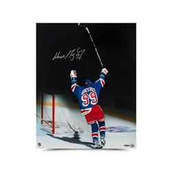 "Wayne Gretzky Signed Rangers ""Final Assist"" 16x20 Photo (UDA COA)"