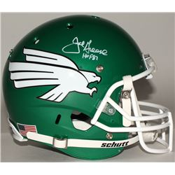 "Joe Greene Signed North Texas Mean Green Full Size Helmet Inscribed ""HOF 87"" (JSA COA)"