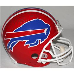 "Jim Kelly Signed LE Bills Full-Size Authentic Pro-Line Helmet Inscribed ""HOF 02""  ""Forever #12"" (Ste"