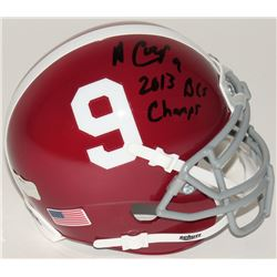 "Amari Cooper Signed Alabama Crimson Tide Mini-Helmet Inscribed ""2013 BCS Champs"" (Radtke COA)"