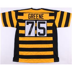 "Joe Greene Signed Steelers Throwback Jersey Inscribed ""HOF 87"" (JSA COA)"