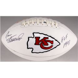 "Jan Stenerud Signed Chiefs Logo Football Inscribed ""HOF 1991"" (JSA COA)"