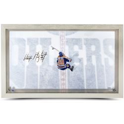 Wayne Gretzky Signed Oilers 18.5x30.5 Custom Framed Acrylic Display (UDA COA)