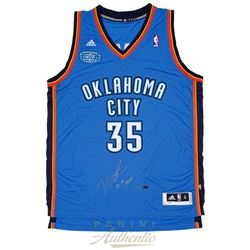 "Kevin Durant Signed Thunder Jersey With 2013-14 MVP Patch Inscribed ""13-14 MVP"" (Panini COA)"