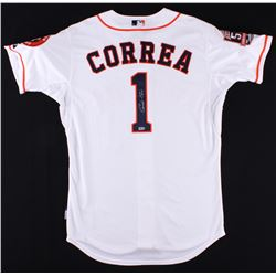 """Carlos Correa Signed Astros """"50th Anniversary"""" Patch Jersey (MLB Hologram)"""