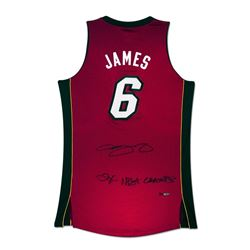 "LeBron James Signed Heat Limited Edition Jersey Inscribed ""2X NBA Champs"" (UDA)"