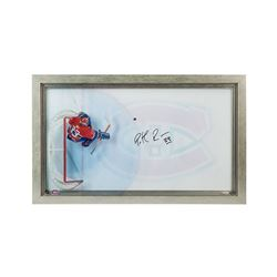 "Patrick Roy Signed Canadiens ""Great from Avove"" 16.75x28.75 Custom Framed Acrylic Display (UDA)"