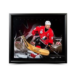 Wayne Gretzky Signed 24x28 Custom Framed Limited Edition Stick Blade (UDA)