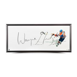 "Wayne Gretzky Signed Oilers ""The Show"" 20x46 Custom Framed Photo (UDA)"