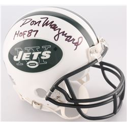 "Don Maynard Signed Jets Mini-Helmet Inscribed ""HOF 87"" (Radtke COA)"