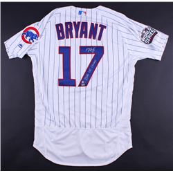 "Kris Bryant Signed Cubs Majestic Authentic Jersey Inscribed ""2016 WS Champs"" (MLB  Fanatics)"