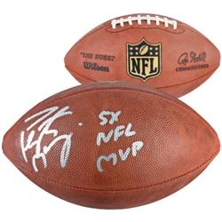 "Peyton Manning Signed ""The Duke"" Official NFL Game Ball Inscribed ""5x NFL MVP"" (Fanatics)"