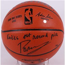 "Kristaps Porzingis Signed LE NBA Game Ball Series Basketball Inscribed ""Knicks 1st Round Pick"" (Stei"
