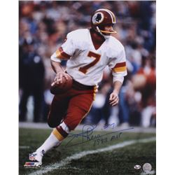 "Joe Theismann Signed Redskins 16x20 Photo Inscribed ""1983 MVP"" (Radtke COA)"