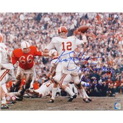 "Ken Stabler Signed LE Alabama Crimson Tide 16x20 Photo Inscribed ""1967 Sugar Bowl MVP""  ""Alabama 34"