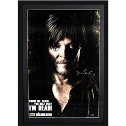 "Norman Reedus Signed ""The Walking Dead"" 29x42 Custom Framed Poster Display (Radtke COA)"
