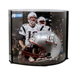 """Tom Brady Signed Patriots """"Super Bowl 51"""" Full-Size Authentic On-Field Helmet with Curve Display Cas"""