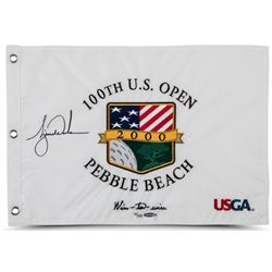 """Tiger Woods Signed LE 2000 US Open """"Wire-To-Wire"""" Pin Flag (UDA COA)"""