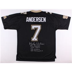 Morten Andersen Signed Saints Authentic NFL Pro-Line Jersey With (4) Inscriptions (Radtke COA)
