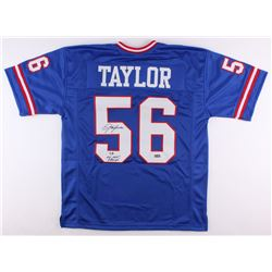"Lawrence Taylor Signed Giants Jersey Inscribed ""SB XXI XXV Champs"" (Radtke Hologram)"