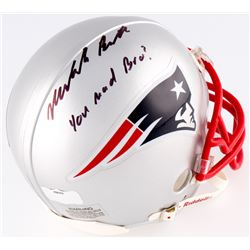 "Malcolm Butler Signed Patriots Mini-Helmet Inscribed ""You Mad Bro?"" (Radtke  Fanatics Hologram)"