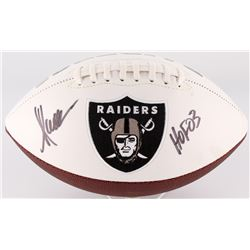 "Marcus Allen Signed Raiders Logo Football Inscribed ""HOF 03"" (Allen Hologram)"