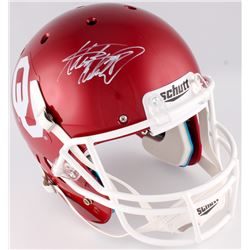 DeMarco Murray  Adrian Peterson Signed Oklahoma Sooners Full-Size Helmet (Radtke COA  Murray Hologra