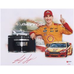 "Joey Logano Signed NASCAR ""Daytona 500 Win"" Limited Edition 11x14 Photo #/22 (PA COA)"