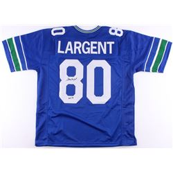 "Steve Largent Signed Seahawks Jersey Inscribed ""HOF '95"" (Radtke COA)"