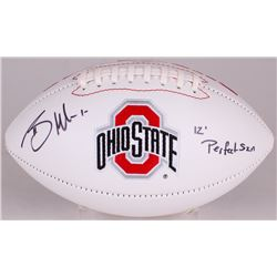 "Braxton Miller Signed Ohio State Buckeyes Logo Football Inscribed ""12 Perfect SZN"" (Radtke Hologram)"