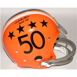"Dick Butkus Signed Illinois Fighting Illini Full-Size TK Suspension Helmet Inscribed ""CHOF 83"" (JSA"