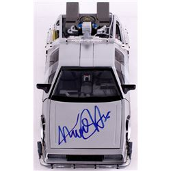 "Michael J. Fox Signed ""Back to the Future II"" DeLorean 1:15th Scale Model Car (JSA COA)"