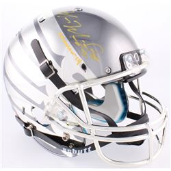 "Marcus Mariota Signed Oregon Ducks Custom Chrome Full-Size Helmet Inscribed ""Heisman '14"" (Radtke CO"